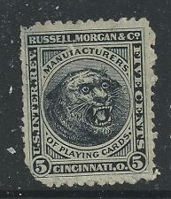 RU 16d-RUSSEL, MORGAN AND CO 5 CENT PRIVATE DIE  STAMP--49