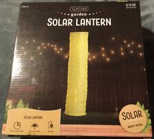Lumineo Garden Solar Lantern-Yellow-Warm White light. 35.4 in x 7.9in