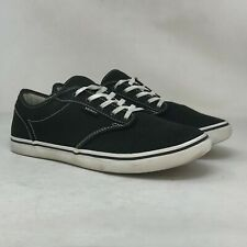 New listing Vans Womens Atwood TC9R Black Canvas Skate Shoes Comfort Lace Up Low Top Size 9