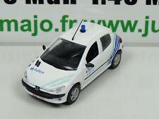 SOL35N Voiture 1/43 NOREV PEUGEOT 206 police / politie Bruxelles-ouest