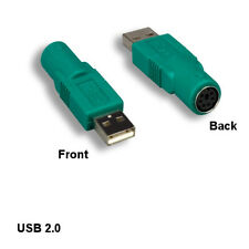 Kentek USB 2.0 A Male to MDIN6 PS/2 Female Connector for PC Logitech Mouse