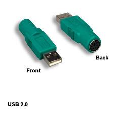 Kentek USB 2.0 A Male to Mini DIN 6pin Female Mouse Adapter for PC Logitech Mice