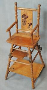 ANCIENNE Chaise-haute de poupée Mickey Mouse transformable  CIRCA 1930