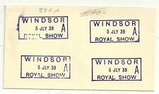 * 1939 WINDSOR ROYAL SHOW BOXED D.S. 4 STRIKES ON ENVELOPE BY FAVOUR - BERKSHIRE