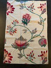Nobilis 'Flore' Embroidery Fabric 60cm X 90cm, Fushia Colour