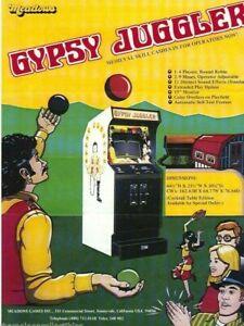 Gypsy Juggler Arcade Flyer Meadows 1978 Original Video Game Artwork Sheet Retro