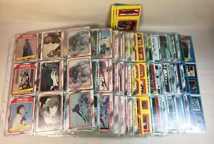 1980 Empire Strikes Back BIG LOT of Trading Cards w/ Star Wars Stickers in Pages