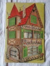 Das bunte Märchenhaus Gebrüder Grimm Faltbuch mit Türchen Krussig 1948