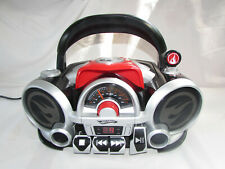 HotWheels  AM FM Radio CD Rock N' Race Boombox Model HW200 Red/Black
