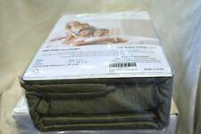 Audley Home 100% Egyptian Cotton 800TC 4Piece CaL King Size Sheet Set Sage Gray
