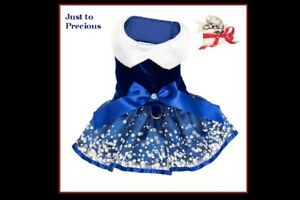 NWT Doggie Design Special Holiday Blue White Snowflake Harness Dress XS S M L
