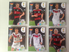 PANINI WM 2014 World Cup 6 UPDATE DEUTSCHLAND Adrenalyn XL FULL