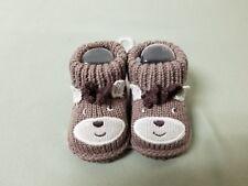 New Carters Knitted Reindeer Christmas Infant Newborn Booties Socks Slippers