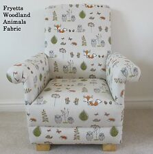 Fryetts Woodland Animals Fabric Child Chair Fox Owl Kids Nursery Kids Armchair