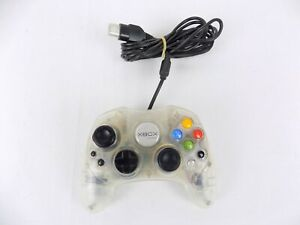 Genuine Xbox Original Controller Crystal Special Edition Controller - Clear F...