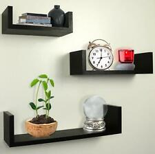 Set of 3 Floating Display Ledge Shelves Wall Mount Bookshelf Storage Bookcases