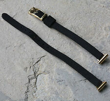 Silk & gold open-ended ladies watch band you pick 6mm 7mm 8mm 9mm 10mm or 11mm