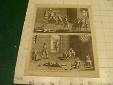 Original Engraving:1700's or 1800's - TORMENTS & DUNGEON in Dutch Amboyna