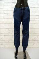CARLO CHIONNA 9.2 Jeans Donna Taglia 31 Pants Women Blu Denim Slim Pantalone