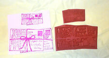 Old Postcards Collage rubber stamp lot ephemera writing post cards unmounted