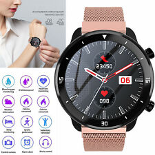 Women Luxury Bluetooth Smart Watch Heart Rate Blood Measure for ios Samsung Moto