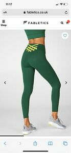Fabletics Leggings - The Boost 7/8 in Green, Size M