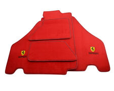 Floor Mats For Ferrari F430 2004-2009 Red Tailored Carpets With Ferrari Emblem