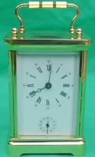 L'EPEE VINTAGE FRENCH 8 DAY ALARM CORNICHE CARRIAGE CLOCK