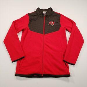 NFL Boys Size XXL Tampa Bay Buccaneers Long Sleeves Fleece Full Zip Red Jacket