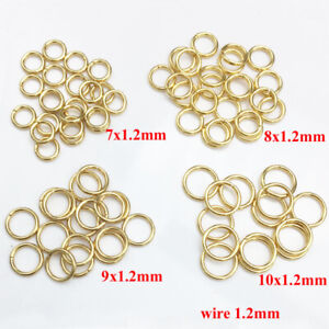 100PCS  3.5MM-10MM DIY Making Jewelry Findings Stainless Steel Jump Rings Gold