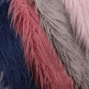 Faux Fur Plush Fabric Long Hair Fluffy DIY Clothing Sewing Sofa Carpet Craft