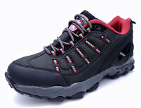 BLACK LACE-UP SPORTS RUNNING WALKING HIKING TRAINERS TRAIL SHOES UK 7-11 SECONDS