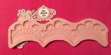 Tiara Lace silicone mold fondant cake decorating wedding lace food mould FDA