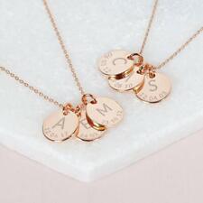Initialen Buchstaben Namenskette Halskette mit Wunschdatum Buchstabenkette