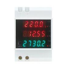 100A AC80 - 300V digital DIN Rail Voltage Meter Voltmeter White Power Factor L3