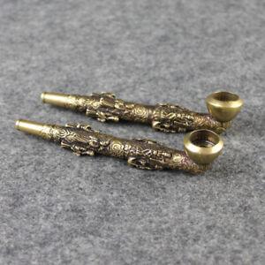 Classical Copper Portable Creative Smoking Pipe Smoke Mouthpiece Cigarette New