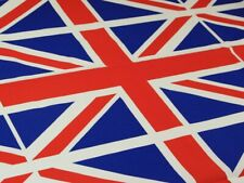 Union Jack Cotton Flag Fabric - Sold Per Metre