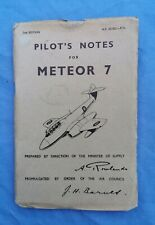 Post-ww2 RAF Meteor 7 pilots notes