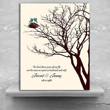 (LT-1366) Personalized 3rd Year Anniversary Personalized Family Wedding Tree ...