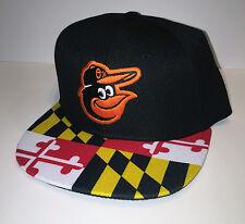 BALTIMORE ORIOLES Maryland Flag Baseball Cap Flat Brim Snapback DAP MLB