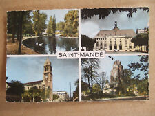 CPA SAINT MANDE (94) MULTIVUES. LAC, MAIRIE, EGLISE, ZOO. IMAGES DE FRANCE