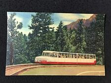 Colorado Springs, CO Broadmoor Mountaineer Cog Train  postcard posted 1955