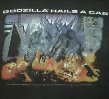 Vtg GODZILLA T SHIRT Rare HOLLYWOOD FILM Monster Movie Promo 90's SLOGAN Horror
