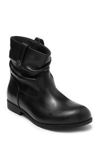 NIB Birkenstock Sarina Leather Ankle Boots $179 #1010599 Black Size 37 Narrow