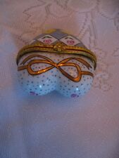 Heart Shaped Porcelain Trinket Box