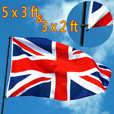 5'x3'✔ 3'x2'✔ Union Jack Great British United Kingdom Sport UK Team Flag Eyelets