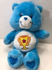 12� Care Bears Collection 2002 Blue Champ Bear With Trophy On Tummy No Tag#c