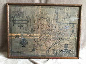 John Speed's map of ANGLESEY OAK FRAMED dated 1610