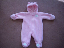 Baby Girl Carter's one-piece hooded snowsuit coat 3 months pink