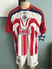 RARE REEBOK CHIVAS GUADALAJARA 2006 CHAMPION BAUTISTA ORIGINAL JERSEY L